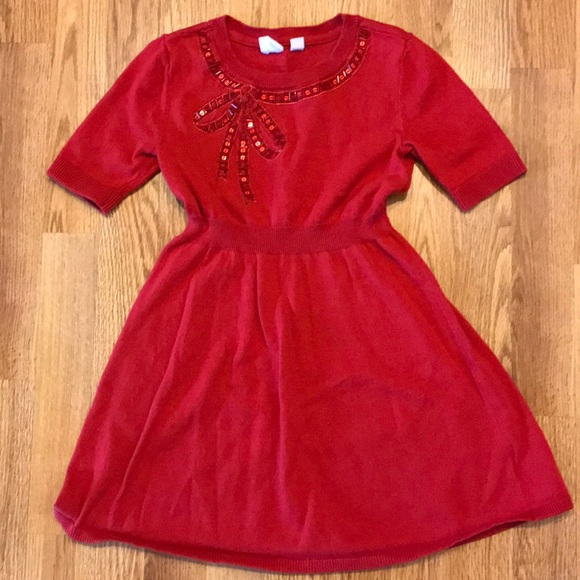 GAP Baby Girls Size 6-12 Months Red Corduroy Festive Holiday Party Dress Skirt